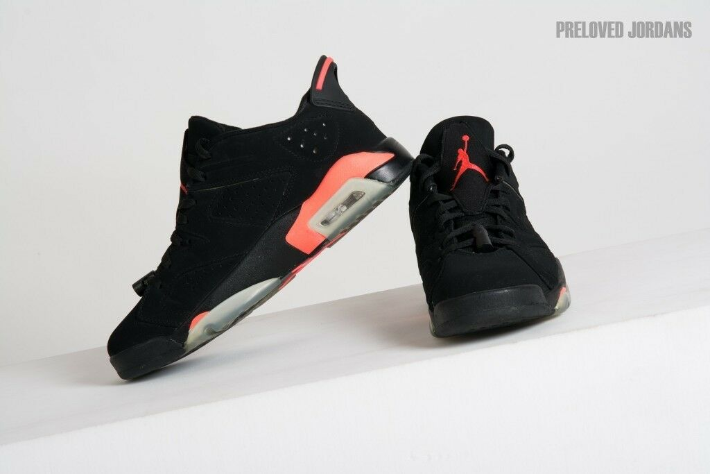9138605fef2c Air Jordan VI (6) Retro Infrared. UK Size 8. Preloved. RARE 2014!