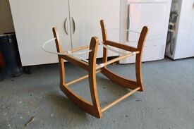 Rocking Moses Basket Stand - Antique Pine