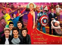 TWO TICKETS FOR MADAME TUSSAUDS LONDON THURSDAY 14th DECEMBER 2017