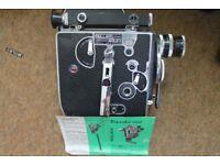 Vintage camera, cine camera and tripods