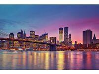 2 return flight tickets London-New York, 12.Mar-20.Mar