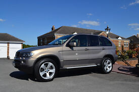 BMW X5 3.0D AUTO SPORT 2005 LOW MILES FSH 1 PREVIOUS OWNER CREAM NAPPA LEATHER