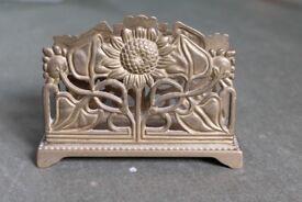 Vintage Art Nouveau style Desk Set (Letter rack and stamp box)
