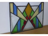 Architectural Salvage: Beautiful Piece of Art Deco, Vintage / Antique, Leaded Stained-Glass.