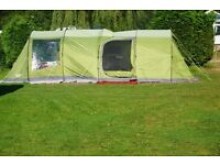 VANGO ISIS/IRIS 5 MAN TENTWITH EXTENTION, CARPET, FOOTPRINT & 50 ROCKPEGS USED 3 TIMES VGC