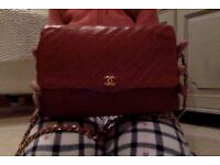 Chanel Handbag, Original, Vintage, Classic, Excellent condition, 1970's, RARE, Red, soft leather