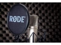 Rode NT1A + Pop Filter + Shockmount & SE Electronics RF-X filter