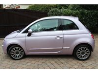 Pearl Pink Fiat 500 1.2 lounge 2013 rare spec