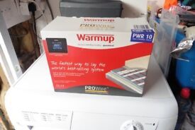 2 x warm up PWR 10 Underfloor heating elements and 2 boxes of boards.