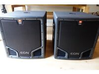 """Pair JBL EON 518s Subwoofer - 18"""" Sub x 2 with cases in excellent condition"""