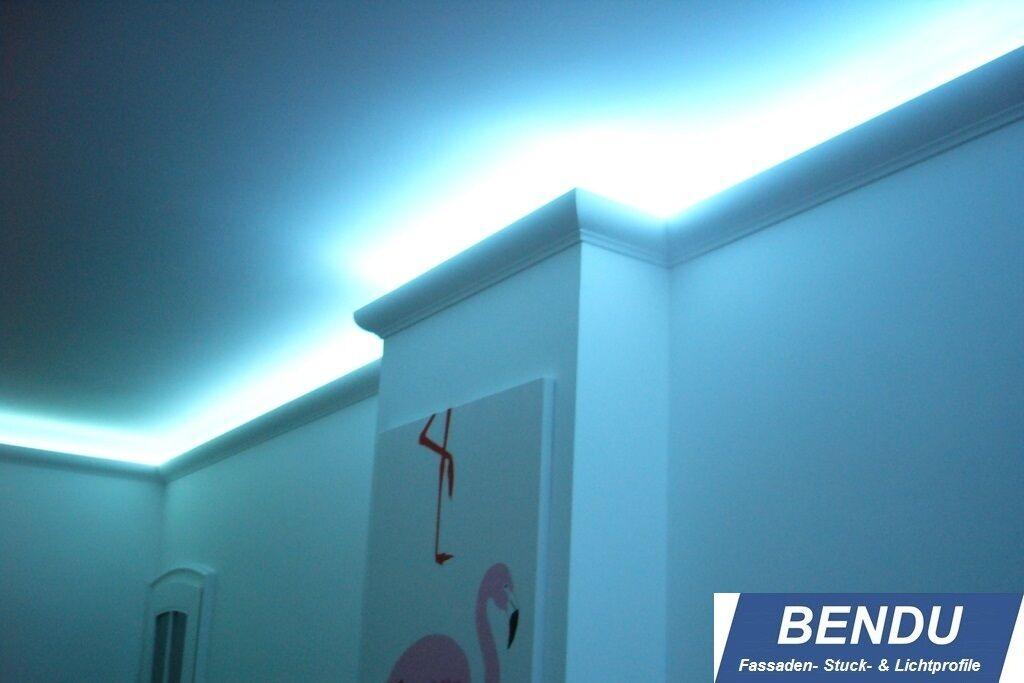 montageset bendu led stuckleisten f r indirekte beleuchtung aus hartschaum eur 359 00. Black Bedroom Furniture Sets. Home Design Ideas