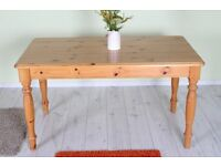 SOLID PINE TABLE LIGHT IN COLOUR & STURDY - CAN COURIER - FREE LOCAL DELIVERY