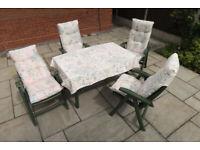 Hartman Ambassador Club Table & 4 Reclining Chairs Patio Set