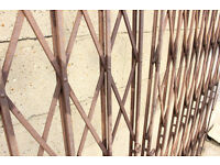 Antique Metal Security Gate made by The Bostwick Gate Co c1895