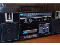 Retro Panasonic RX-C34 Ghetto Blaster Boombox 4 Band Radio Cassette AUX Line In