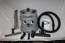 Numatic Grey Hoover. With hepi-filter and tools.Includes dust bag. As new.