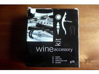 BRAND NEW, NEVER USED, 4 PIECE SOMMELIER WINE OPENING SET in BLACK PRESENTATION CASE