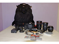 CANON 7D AND LENS