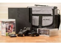 Playstation 3, 10 games and accessories