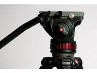 Manfrott HD504 + havy PRO Manfrotto tripod