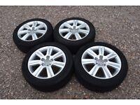 "Genuine 17"" Audi A4 B8 S Line Sline Alloy Wheels Michelin & Continental 225/50R17 Tyres 8K0601025B"