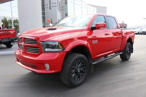 2015 RAM 1500 Sport Crew Cab - LIFTED WITH RIMS/RUBBER