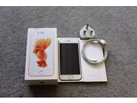 IPHONE 6S 64GB UNLOCKED ROSE GOLD WITH ORIGINAL BOX & CHARGER GREAT CONDITION £300