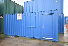 20ft x 8ft Steel Storage Container. Converted to Half Office / Half Store. Newly fitted Interior.