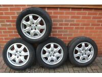 Set of 4 Jaguar 16 inch alloy wheels, also fit many Ford - Mondeo, Transit Connect etc