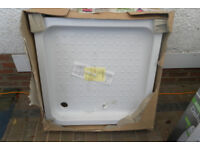 """A 31"""" x 31"""" white shower tray (new)"""