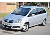 2007 TOP OF THE RANGE VAUXHALL ZAFIRA ELITE 1.9 CDTI 7 SEATS,FULL LEATHER,EXCELLENT CONDITION.