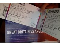 Davis Cup Tickets X 2 this SUNDAY 18th. TOP SEATS in SOUTH STAND. SOLD!!!!
