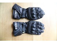 Racer multitop biker gloves in leather, size Large - almost new - priced at £59