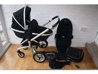 Black Silver Cross Surf 2 pram pushchair *can post*