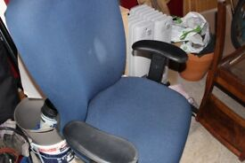 Large blue office chair