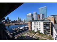 Two bedroom penthouse flat, Boardwalk Place, E14 5SG, furn or unfurn, balcony, views, secure parking