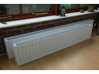 Two, double low level CH radiators