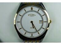 Rotary Mens Ultra Slim Dress Watch Mint Condition