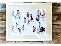 Child Musicians / Orchestra / Musical Instruments Framed Art Print, Karin Eklund