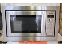 NEF INTEGRATED MICROWAVE, MODEL H56W20N3GB, EXCELLENT CONDITION 18 MONTHS OLD AND VERY LITTLE USED