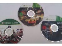 x3 Xbox 360 games