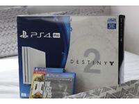 Glacier White PS4 pro and games,1TB(doesn't include destiny 2)