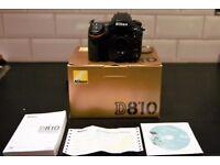 Nikon D D810 36.3MP Digital SLR Camera - Body Only - Boxed