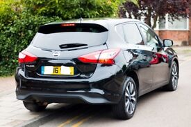 Nissan Pulsar 1.2 DIG-T Tekna Xtronic 5dr- Metallic Black + Full leather + Sat Nav + Heated Seats