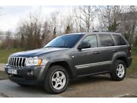 2005 Jeep Grand Cherokee 3.0 V6 CRD LIMITED 5dR 4X4 215 BHP AUTO, DIESEL, 3M WARRANTY, PX WELCOME