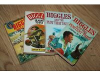 Four Biggles paperbacks by WE Johns