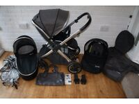 Babystyle Oyster 2 pram travel system 3 in 1 - Slate grey / black *can post*