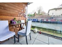 St. Pancras Way NW1: 2 double bedrooms / 2 bathrooms / balcony overlooking the canal / unfurnished