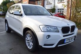 2011 61 REG BMW X3 20D SE XDRIVE 5DR FULL BMW SERVICE HISTORY IE SIX STAMPS ALPINE WHITE SEE VIDEO!!