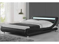 Led kingsize bed frame (no mattress)
